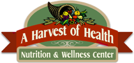 Logo for A Harvest of Health Nutrition and Wellness Center.